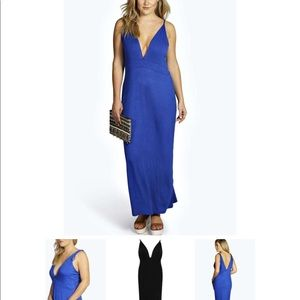 Boohoo Sofia plunging maxi dress